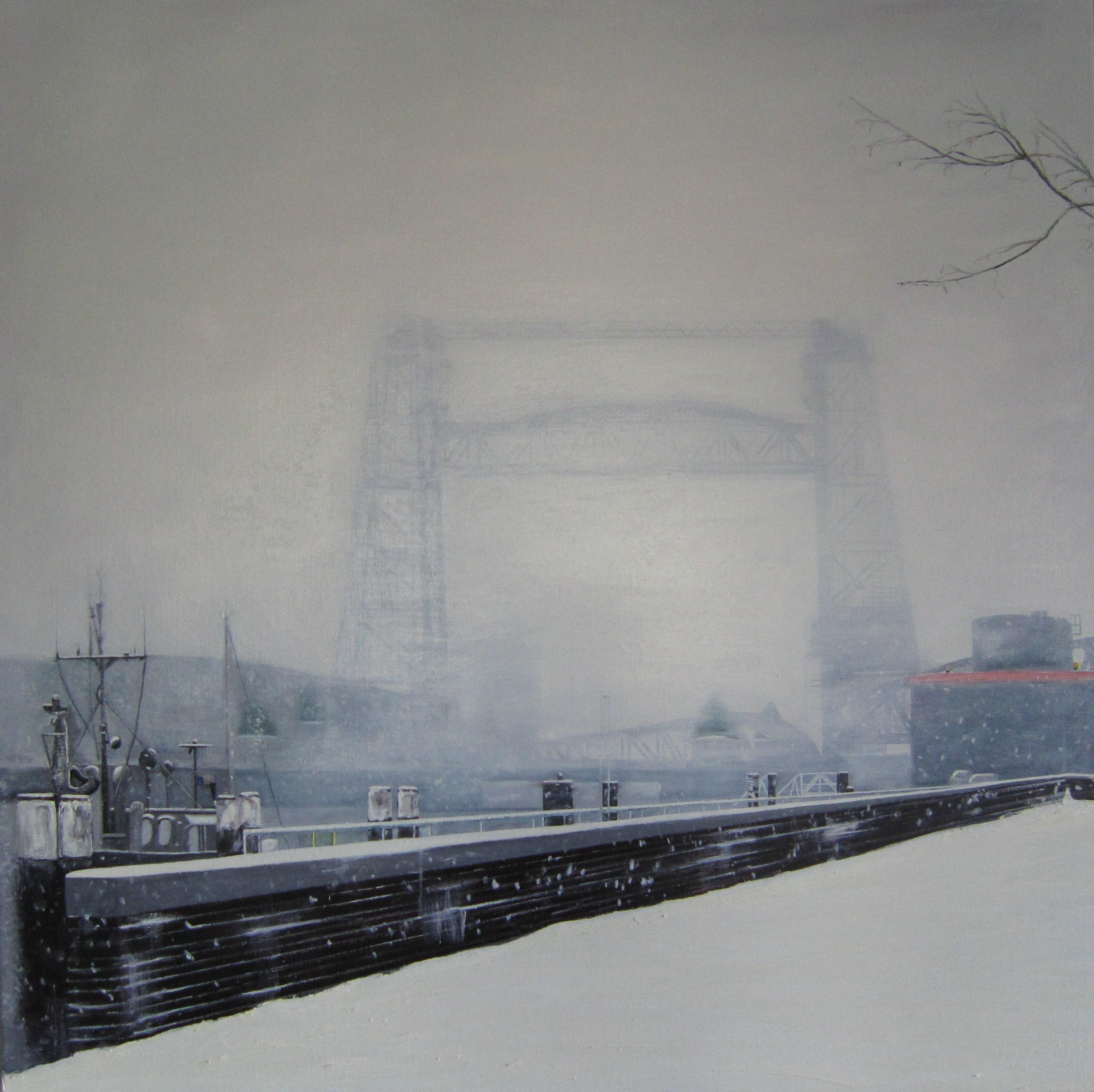 De Hef in de sneeuw Schilderij van vierluik